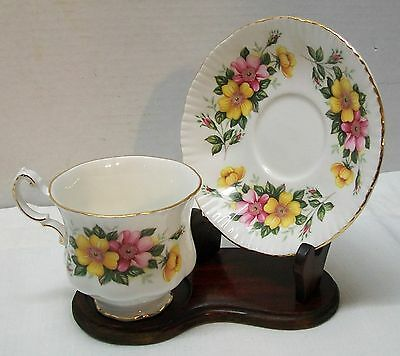 Teacup Saucer by Appointment to Her Majesty the Queen Bone China Paragon Floral