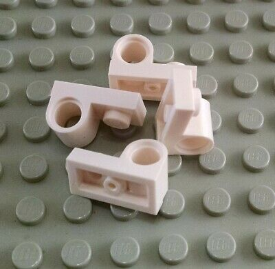 New LEGO Lot of 4 White 1x2 Plates with Technic Pin Hole