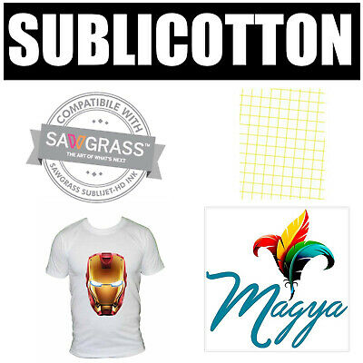 "SUBLICOTTON TRANSFER PAPER  100  Sh PK 8.5""X11"" Sublimation paper for Cotton #1"