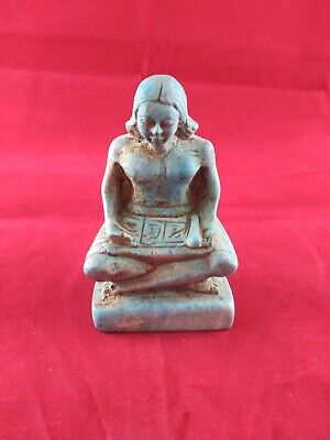 Ancient Egyptian Antiques Statue of Old Egyptian Writer