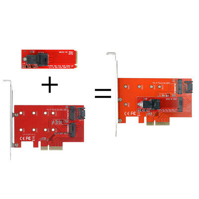 Chenyang PCI-E 3.0 x4 Lane Host Adapter M2 NGFF M Key SSD to U.2 U2 Kit SFF-8639