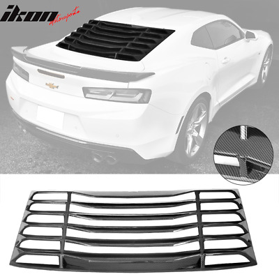 Fits 16-20 Chevy Camaro IKON Style Rear Window Louvers Cover Sun Shade CFL
