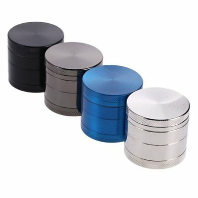 4 Layers Round Shape Men Grinder Zinc Alloy Herb Tobacco Herb Spice Crusher Ft