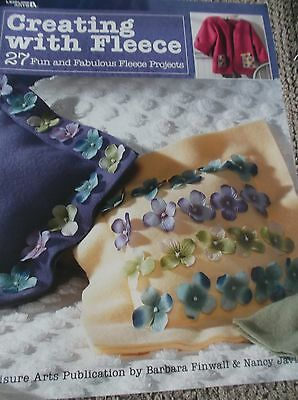 Sewing Pattern Book Creating With Fleece 27 Projects Flowers Pinwheels Sports
