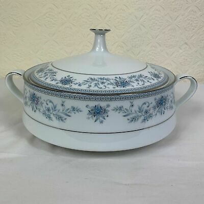 Contemporary Noritake Blue Hill 2482 Twin Handled & Lidded Tureen AD
