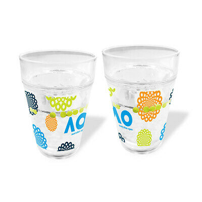 Australian Open Tennis Tumbler with Floating Balls Clear Birthday Gift 2020