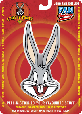 Looney Tunes Bugs Bunny Logo Domed Automotive Decal Sticker Badge Emblem