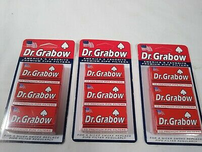 Lot of 3 Dr Grabow ® Pack 3 Packs  Premium Pipes Filters New USA