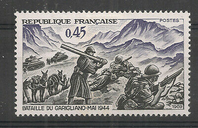 TIMBRES FRANCE N°1601 - Bataille du Garigliano - neuf avec charnière -1969