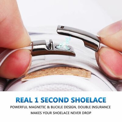 Elastic Magnetic Locking Shoelaces Quick No Tie Shoe Lace Easy Wear for Kids