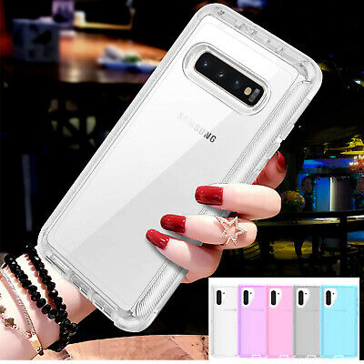 For Samsung Note10+ S10 9 8 7 Case Heavy Duty Defender Clear Hard Bumper Cover