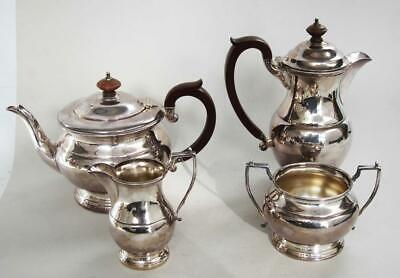 STUNNING SILVER PLATED 4 PIECE TEA SET by GARRARD (The British Royal Jewellers)