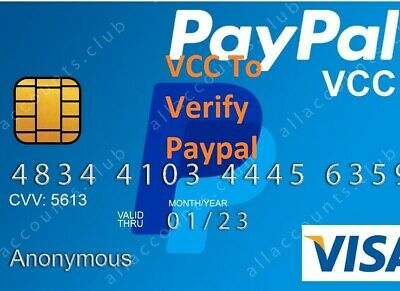 VCC For PayPal Verification (Fast Delivery)
