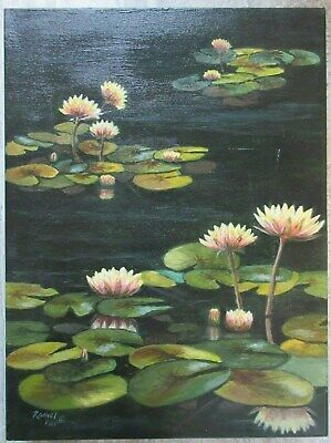 2009 Acrylic Painting on Canvas Waterlilies Study Rachel King New Brunswick