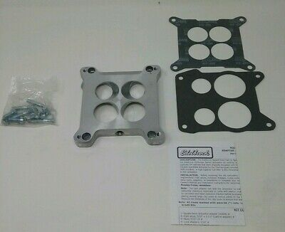 Edelbrock 2696 Carb Adapter Kit Spread Bore to Square Bore 4150 Holley