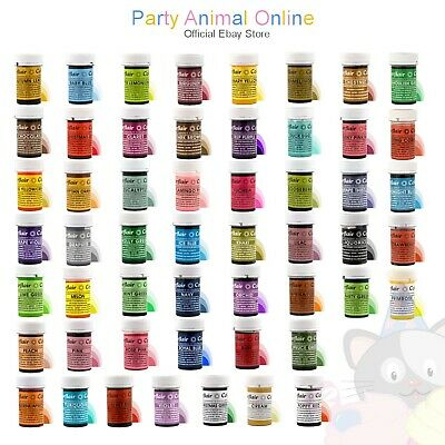 sugarflair - Complete FULL SET of 53 SPECTRAL Food Colour Gel Pastes - 25g pots