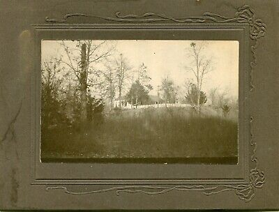 1890's CABINET PHOTO OF OLD HOUSE DOG ROBERT R HEMPHILL'S ABBEVILLE SC FAMILY