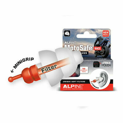 Alpine Motosafe Race Earplugs With Mini Grip For Harley Davidson