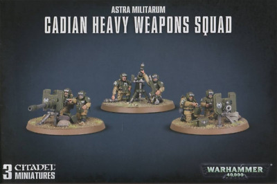Warhammer 40,000 Cadian Heavy Weapon Squad Bits