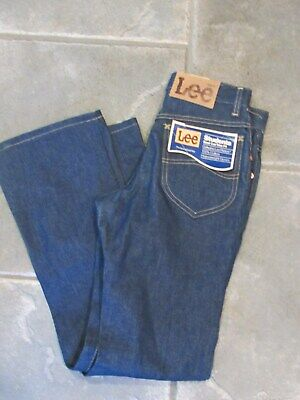 VTG NWT NOS USA LEE Students Boot Cut Heavyweight denim Jeans boy's 28 x 30 new