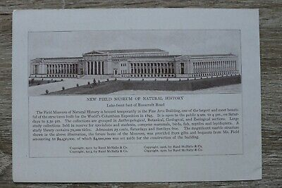 IL) Chicago Illinois USA 1920 New Field Museum of Natural History Architektur +