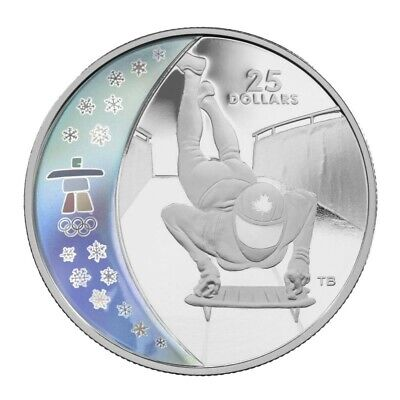 Vancouver Olympic Games: Skeleton - 2009 Canada $25 Sterling Silver Coin