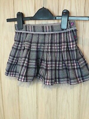 Girls 3-4 Yrs Monsoon Check Skirt excellant condition lined tulle wool blend