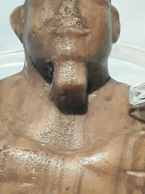 Egyptian Alabaster Carved Osiris Mummiform Figure  new pictures