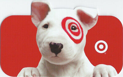 Target Bullseye the Dog Holding On Die-Cut 2011 Gift Card 0-790-01-1798