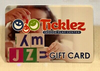 Ticklez Indoor Play Center Place Budd Lake NJ New Jersey Gift Card Collectible