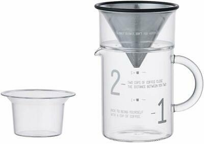 KINTO SCS Coffee jug set 2cup 27651 Heat resistant glass Coffee tools from Japan