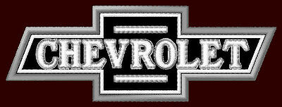 """CHEVROLET EMBROIDERED PATCH ~4-1/4""""x 1-1/2"""" BOWTIE CAR RACING PICKUP TRUCK CHEVY"""
