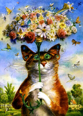 ACEO collectible art card #010060 Cat