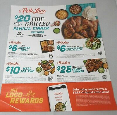 6 El Pollo Loco Coupons October November (Exp.11/03/2019)
