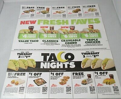 11 Del Taco Coupons October Exp. 10/13/2019