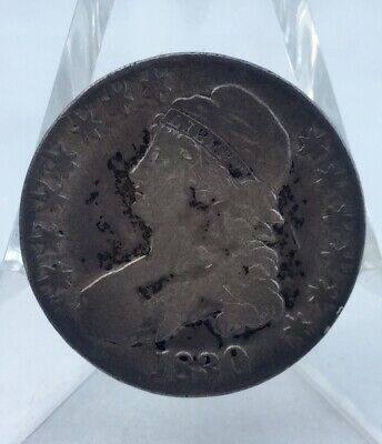 1830 Capped Bust Half Dollar Fifty Cent US Silver Coin 50 Cents
