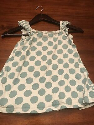 Girls Green Polkadot Tank Top Shirt Size 7 Years – XL Naartjie Kids