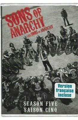 Sealed DVD TV Series - SONS OF ANARCHY  - SEASON 5 -  Also In French
