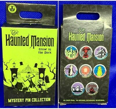 Disney Collectible HAUNTED MANSION glow dark mystery Box of 2 Pins Sealed - NEW