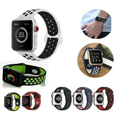 For Apple iWatch Strap 38MM 40MM 42MM 44MM Soft Silicone Sports Strap Band Watch