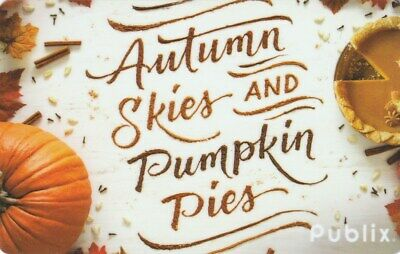 Publix Supermarket Autumn Skies & Pumpkin Pies Fall 2018 Gift Card