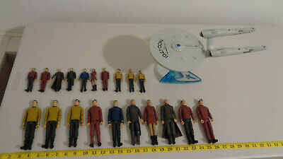 Star Trek 2009 Movie Enterprise and 20 action figures full set Used w/ Playwear