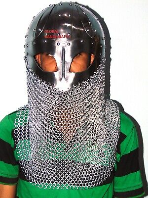 Medieval Collectible Viking chain mail Unique Style warrior Armor helmet