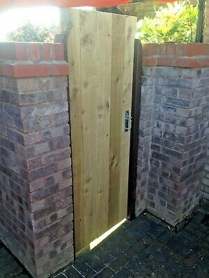 Wooden Garden Luxury Side GATE Heavy Duty Fully Framed Pressure Treated Made to