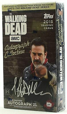 2018 factory sealed the walking dead autograph collection trading cards box