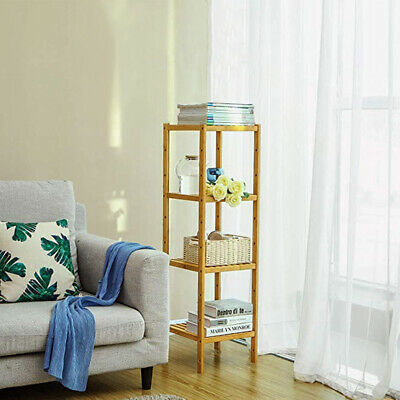 Wooden Bamboo Shelf Stand Book Plant Display Storage Cabinet Towels Holder Unit