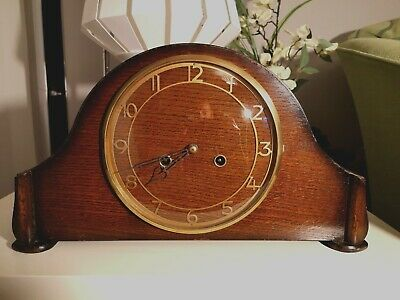 Smith's Enfield 3 Bar Chime Mantel Clock (1951) With Key