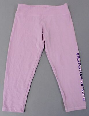 Victoria's Secret Women's Sport Capri Logo Leggings SC4 Purple Large