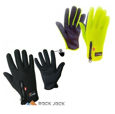 Rockjock Winter Sport Cycling Running Walking Touchscreen Hi Viz Fleece Gloves