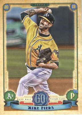 2019 Topps Gypsy Queen Baseball #19 Mike Fiers Oakland Athletics